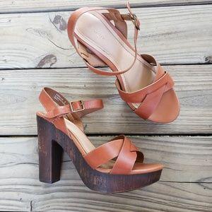 Bamboo Platform Chunky Heels